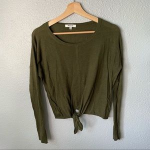 Madewell Modern Tie Front Sweater size medium